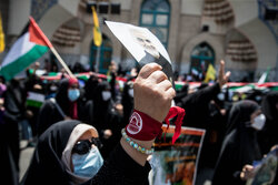 تہران میں فلسطینیوں کی حمایت اور اسرائیل کے خلاف عوامی مظاہرہ