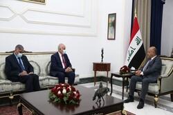 رایزنی رئیس جمهوری عراق با سفیر فلسطین در بغداد
