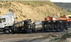 تانکر حامل آمونیاک دراصفهان واژگون شد/مرگ اعضای خانواده در تصادف