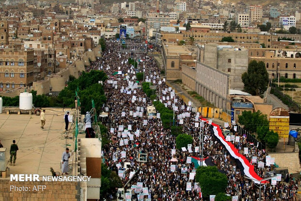 تظاهرات في اليمن دعماً للمقاومة الفلسطينية