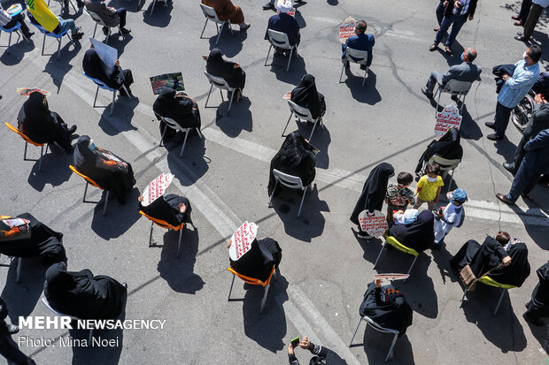 تجمع مردم تبریز برای محکومیت اقدامات رژیم صهیونیستی