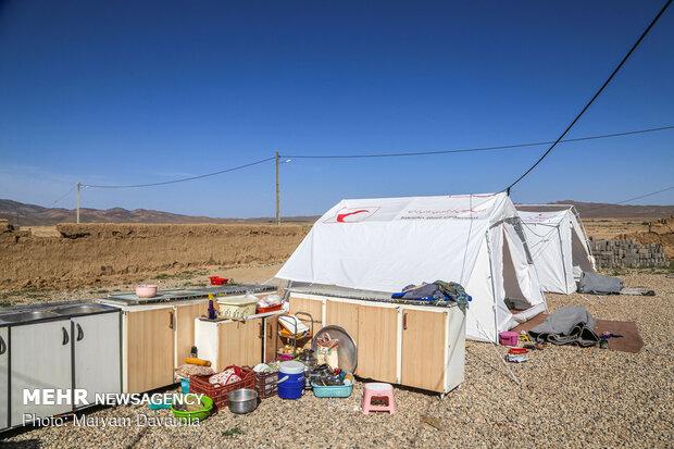 یک روز بعد از زلزله روستای شورک
