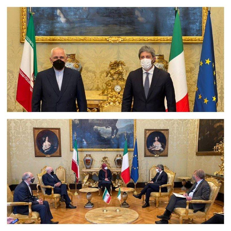 Zarif's meeting with Italian Lower House Speaker held