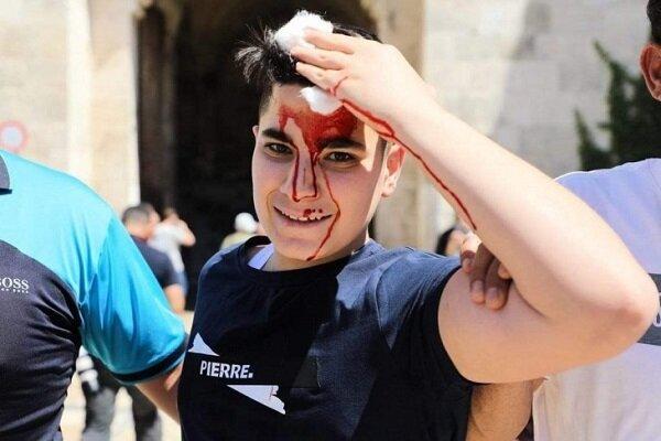 نظامیان صهیونیست به فلسطینیها در قدس اشغالی حمله ور شدند