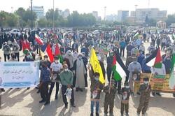 تجمع مردم بوشهر در دفاع از مردم مظلوم فلسطین برگزار شد