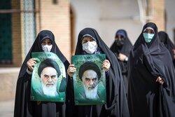 تجمع طلاب زنجانی در اعتراض به جنایات رژیم صهیونیستی