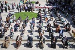زنجان کے طلباء کا غزہ پر اسرائیلی جارحیت کے خلاف مظاہرہ