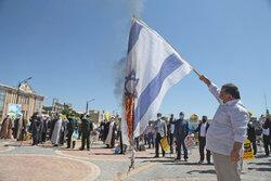 Siyonistlerin Filistin'e yönelik saldırıları Erdebil'de protesto edildi