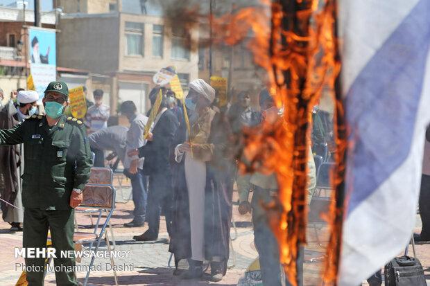 تجمع محکومیت اقدامات رژیم صهیونیستی