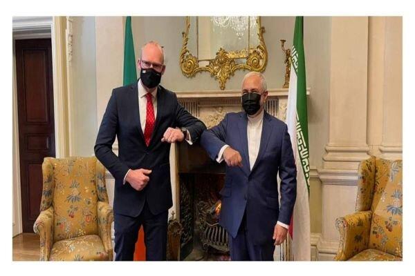 FM Zarif meet his his Irish counterpart in Dublin
