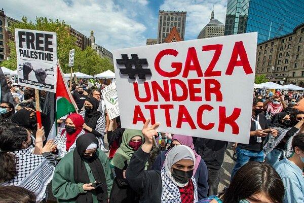 """مظاهرات تعمّ ولايات أمريكية نصرةً لفلسطين وتنديدًا بدعم واشنطن لـ""""اسرائيل"""""""