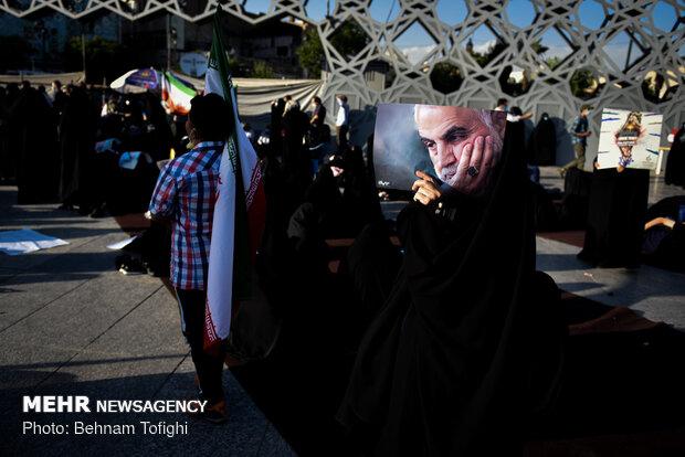 تجمع مردم تهران در محکومیت جنایات رژیم صهیونیستی