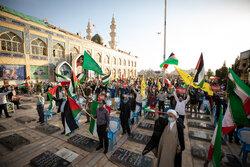کرمان میں غزہ کی حمایت میں عوامی مظاہرہ
