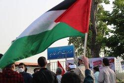 تجمع اعتراضی خودجوش مردم انزلی در حمایت از مردم فلسطین