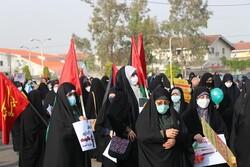 تجمع خودجوش مردم انزلی در دفاع از فلسطین برگزار شد