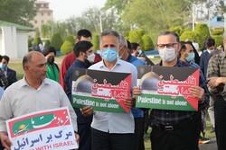 تجمع مردم انزلی در حمایت از مردم مظلوم فلسطین