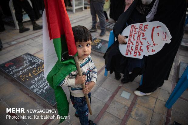 راهپیمایی خودرویی حمایت از مردم غزه در کرمان