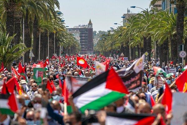 Tunus'ta Siyonist Rejim protestosu