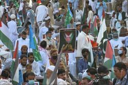 برگزاری راهپیمایی سراسری در پاکستان به نشانه همبستگی با فلسطین