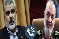 """هنية يستعرض نتائج """"سيف القدس"""" مع قائد الحرس الثوري الإيراني"""