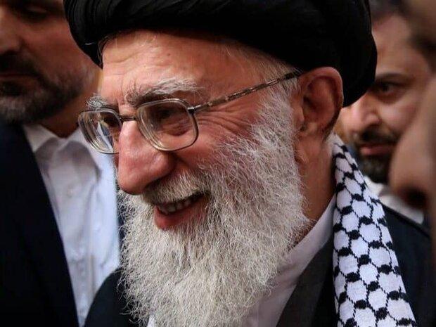 الامام الخامنئي یرسل برقية تهنئة للشعب الفلسطیني