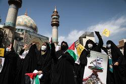 Tahran'da Filistin direniş gruplarının zaferi kutlandı