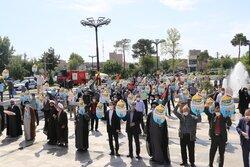 People in Varamin celebrate Palestinians' victory in Gaza war