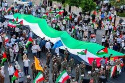 Kum kentinde Filistin zaferi kutlandı