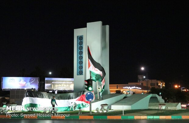 Meşhet'te direniş gruplarının zafer sevinci