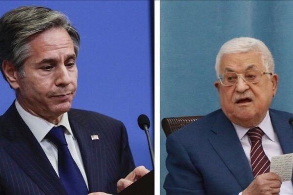 گفتگوی تلفنی «آنتونی بلینکن» با رئیس تشکیلات خودگردان فلسطین