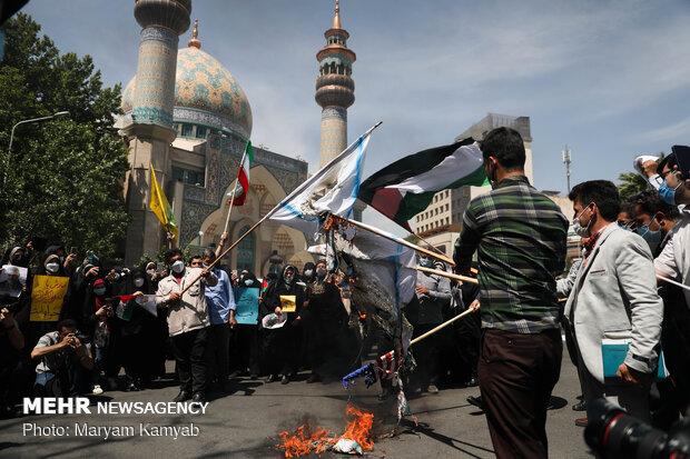 Tahran'da Gazze zaferi kutlandı