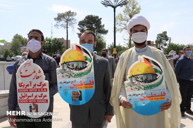 جشن پیروزی مردم غزه در ورامین برگزار شد