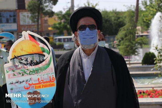 People in Varamin celebrate Palestinians' victory in Gaza