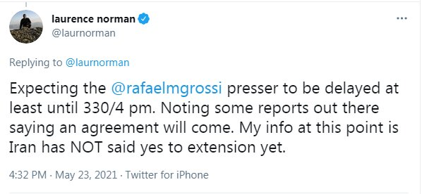 Grossi presser on Iran to be delayed