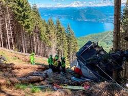اٹلی میں کیبل کار گرنے سے 12 افراد ہلاک