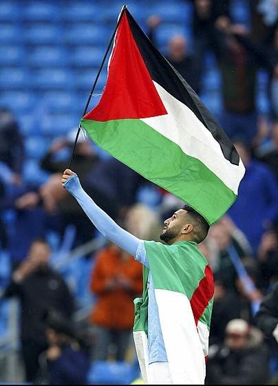 Manchester City'nin şampiyonluk kutlamasında Filistin bayrağı
