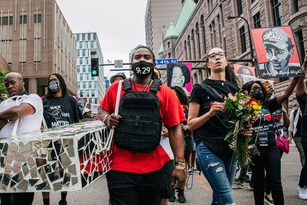 Minneapolis holds anti-racism rallies in Floyd first anniv.