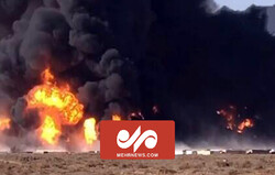 İran-Afganistan sınır gümrüğünde yangın
