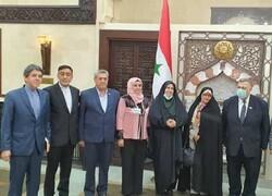 Suriye Meclisi Başkanı Şam'da İran heyeti ile görüştü