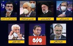 نگاهی به تحصیلات و سوابق اجرایی ۷ نامزد نهایی انتخابات