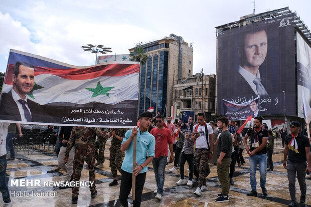 Hizbullah'tan Suriye liderine seçim tebriği