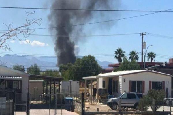 US military plane crashes into house near Nellis AFB