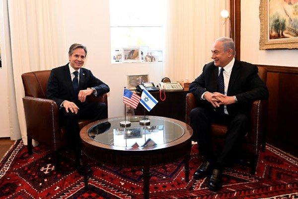وزير الخارجية الأمريكي التقی بنتنياهو