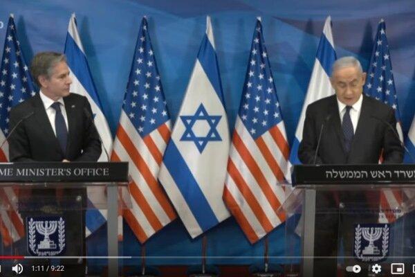 Blinken reaffirms US support for Israeli regime
