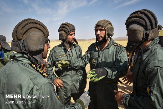 مسابقات اربابان آتش یگان های ارتش در منطقه سیاخ فارس