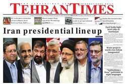 Front pages of Iran's English dailies on May 26