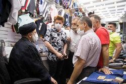 حضور حجت الاسلام سید ابراهیم رئیسی در بازار تهران