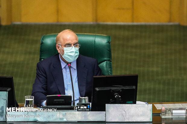 قالیباف دوسرے سال بھی پارلیمنٹ کے اسپیکر منتخب