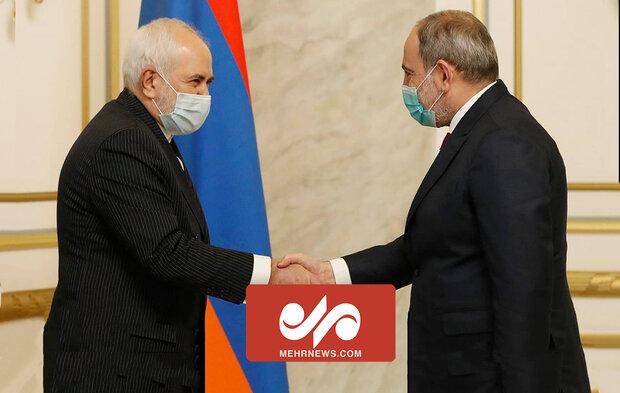 ظریف کی آرمینیا کے وزیر اعظم سے ملاقات
