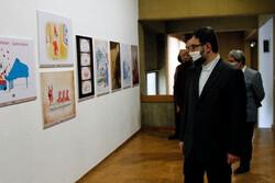 حضور معاون هنری وزیر ارشاد در سه نمایشگاه تجسمی